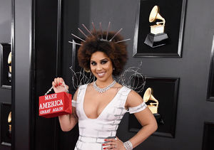 Joy Villa Turns Heads in Another Pro-Trump Dress at the Grammys 2019