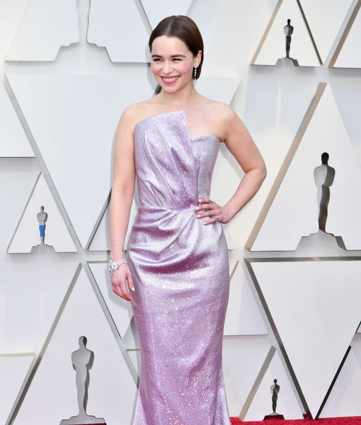 Emilia Clarke Debuts New Brunette 'Do at the Oscars