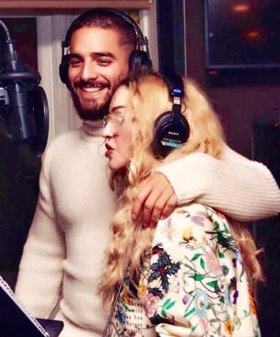 Madonna Teases Collab with Latin Superstar Maluma