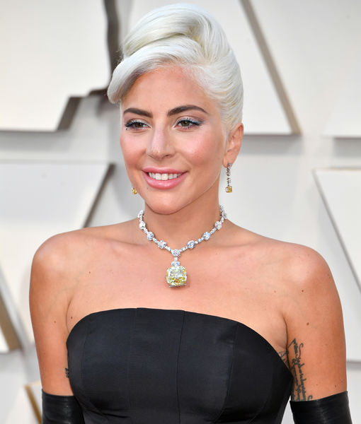 Lady Gaga Gives Off 'Breakfast at Tiffany's' Vibes at Oscars