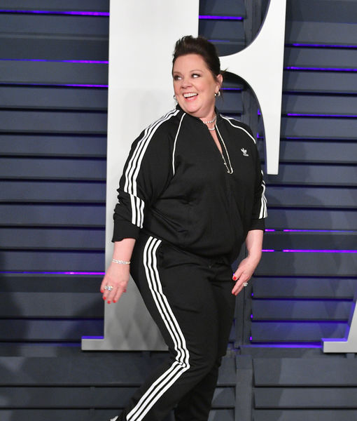 Melissa McCarthy Explains Her Comfy Track Suit at Vanity Fair Oscars Party