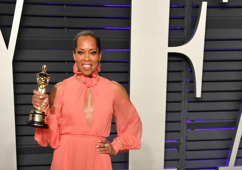 Regina King Celebrates Oscar Win at Vanity Fair Party