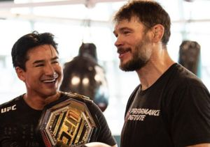 Watch Mario Lopez Break a Sweat with UFC Fighter Forrest Griffin