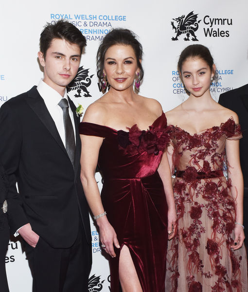 It was a family affair as Catherine Zeta-Jones was honored by the Royal Welsh College of Music and Drama Friday.