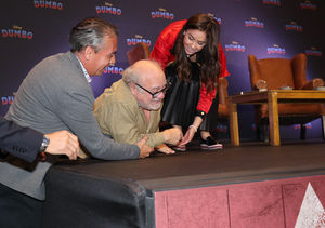 Oh No! Danny DeVito Takes a Tumble During 'Dumbo' Promo
