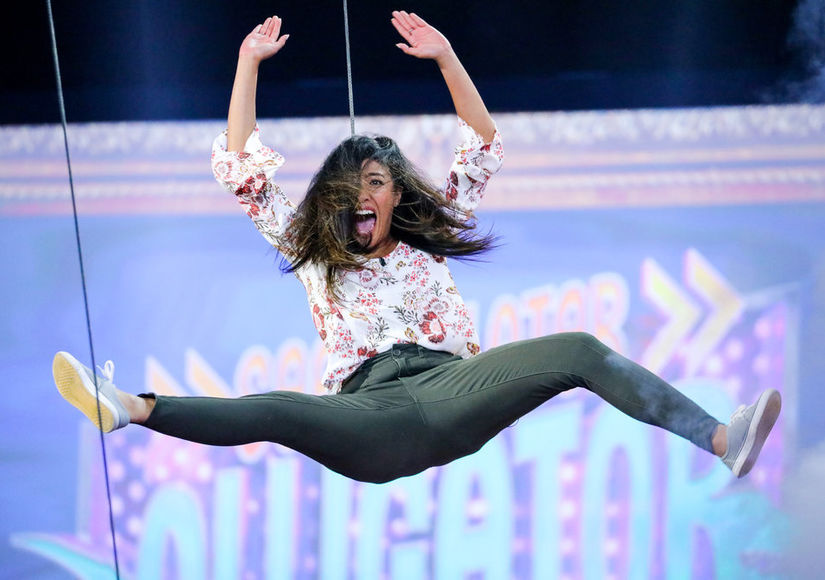 See You Later, Alligator! Contestant Goes Flying on 'Ellen's Game of…