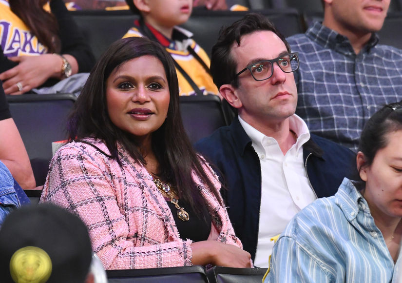 Mindy Kaling B J Novak Spotted At Basketball Game