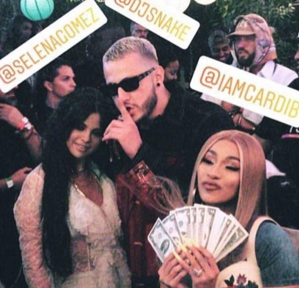 Selena Gomez Surprises Coachella with Cardi B!