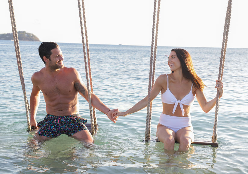 "Days after their wedding, ""Dancing with the Stars"" pros Val Chmerkovskiy, 33, and Jenna Johnson, 25, jetted off to St. Lucia for a honeymoon!"