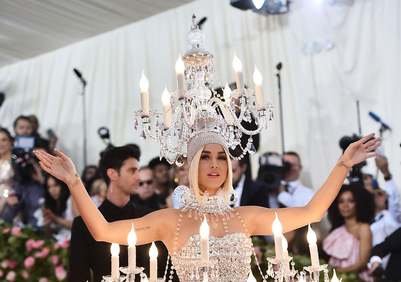 Lit! Katy Perry Dressed as a Chandelier for the Met Gala