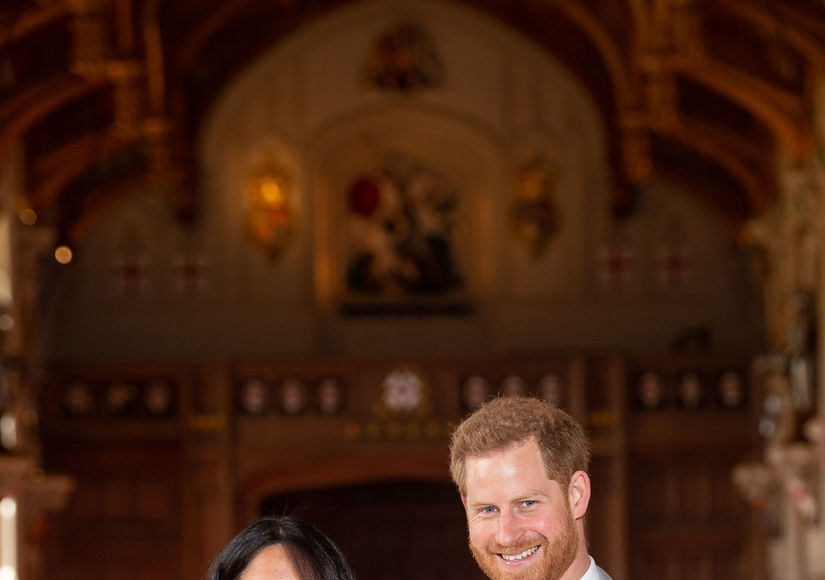 First Pic! Prince Harry & Meghan Markle Debut Royal Baby