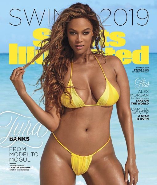 Tyra Banks Flaunts Sexy Bikini Body on Cover of Sports Illustrated Swimsuit 2019