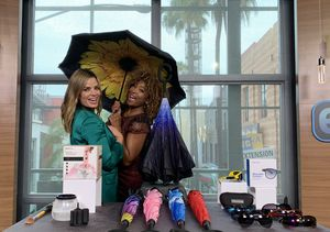 'Extra's' Pop-Up Shop: Makeup Brush Cleaners, Umbrellas, and Wearable HD…