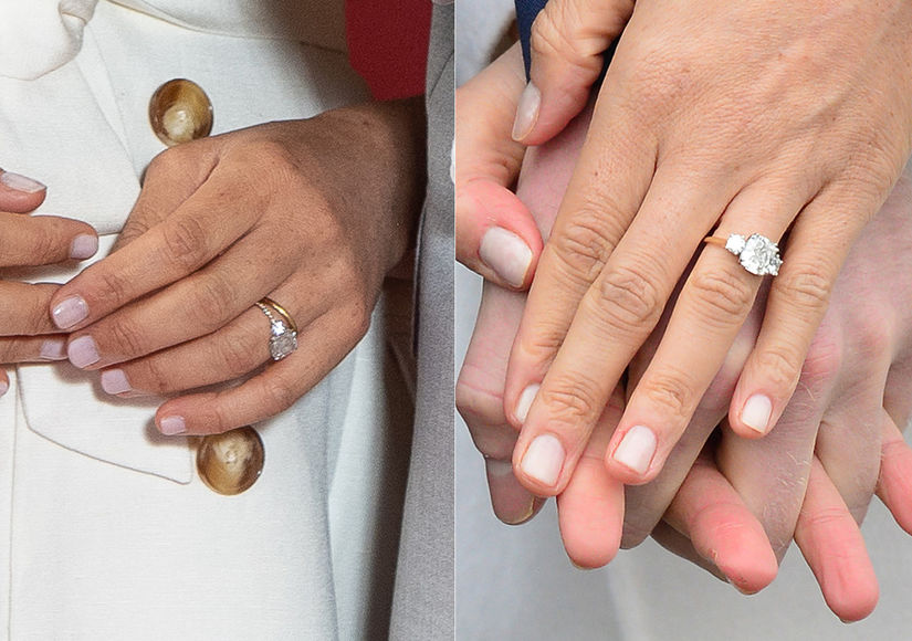 Meghan Markle Upgrades Engagement Ring See What She Changed Extratv Com