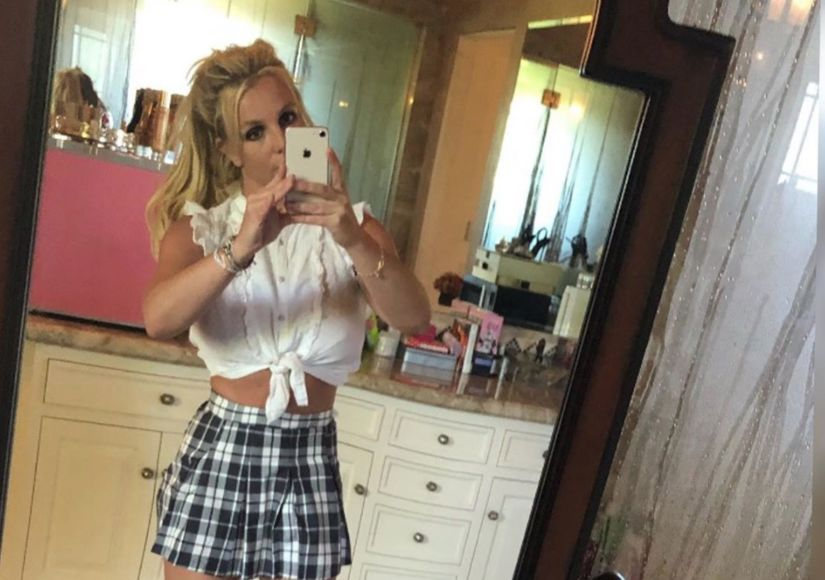 See Britney Spears in Schoolgirl Outfit 20 Years After Debut of '...Baby One…