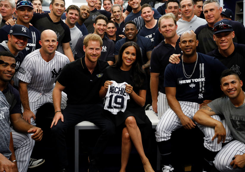 meghan-markle-prince-harry-yankees-getty