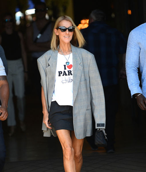Céline Dion Just Accessorized This Surprising Outfit with the 'Titanic' Heart Necklace