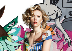 Scarlett Johansson Brings Art to Life in Must-Have Fashions