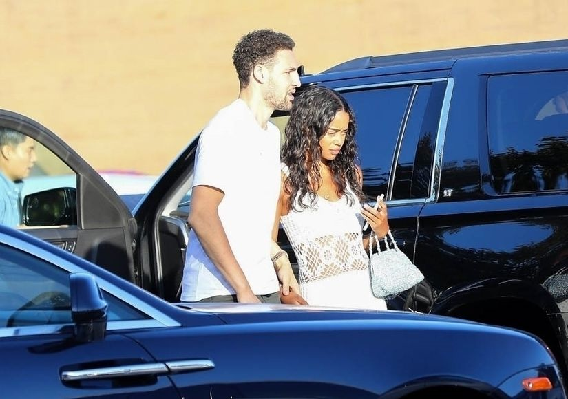 Back On? Klay Thompson & Laura Harrier Pack on the PDA