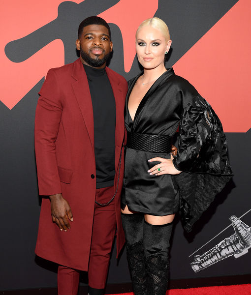 Lindsey Vonn Flashes Unique Emerald Engagement Ring at MTV VMAs