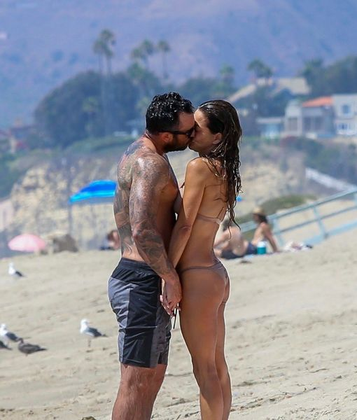 Brooke Burke Packs on the PDA with Mystery Man After Romantic Date with Scott Rigsby