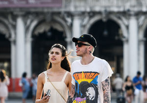 Pete Davidson & Margaret Qualley Spotted Holding Hands in Venice
