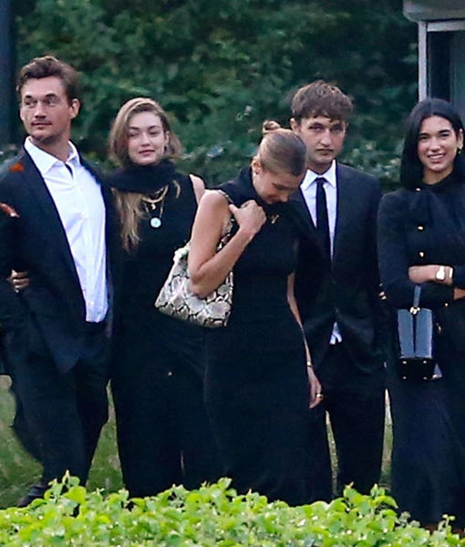 Tyler Cameron Comforts Gigi Hadid at Her Grandmother's Funeral