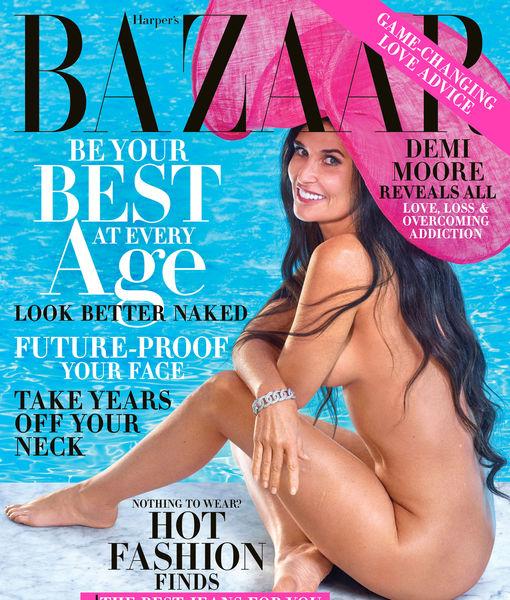 Demi Moore, 56, Stuns in Naked Cover Shoot for Harper's Bazaar