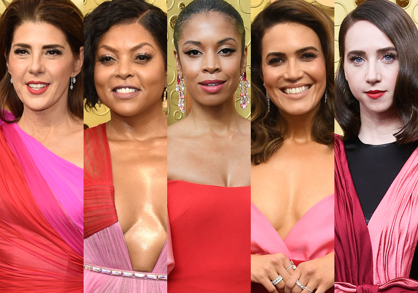 Fashion Trend! Stars Who Wore Pink-and-Red Dresses to the Emmys