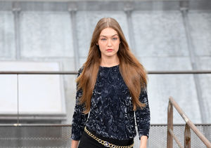 Gigi Hadid Handles Runway Prankster Like a Pro at Chanel Paris Fashion Show