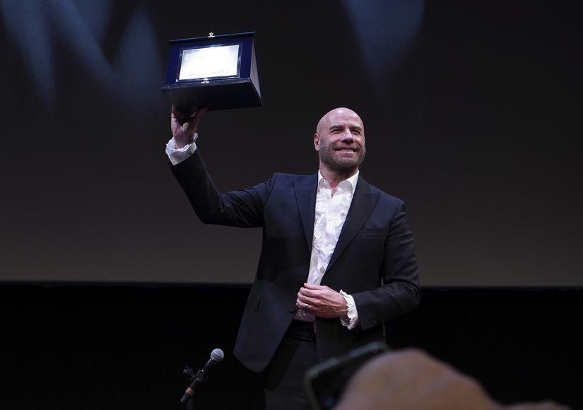 John Travolta Receives Lead Acting Award at Rome Film Festival