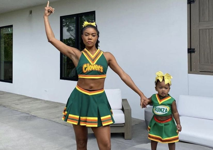 Gabrielle Union & Daughter Kaavia 'Bring It On' for Halloween
