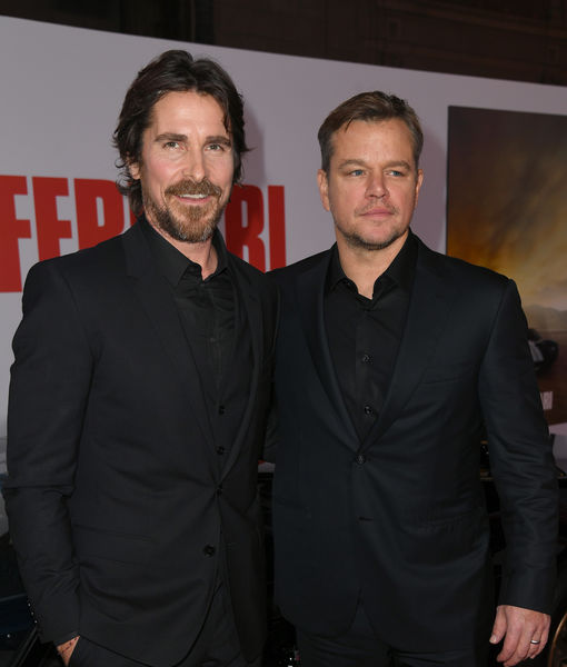 Christian Bale & Matt Damon Talk Cars at 'Ford v Ferrari' Premiere