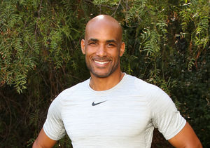 Watch Boris Kodjoe Teach Renee Bargh How to Work Out at the Office