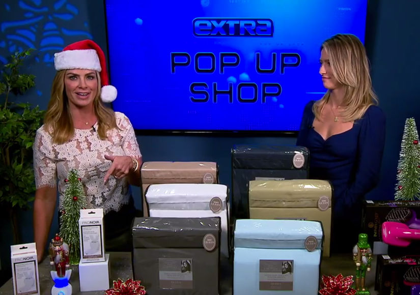 'Extra's' Pop-Up Shop: Sonic Toothbrushes, Sheet Sets, and Hair Dryers