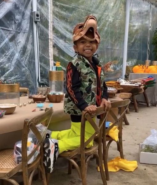 Inside Kim Kardashian's Dinosaur-Themed B'day Bash for Saint