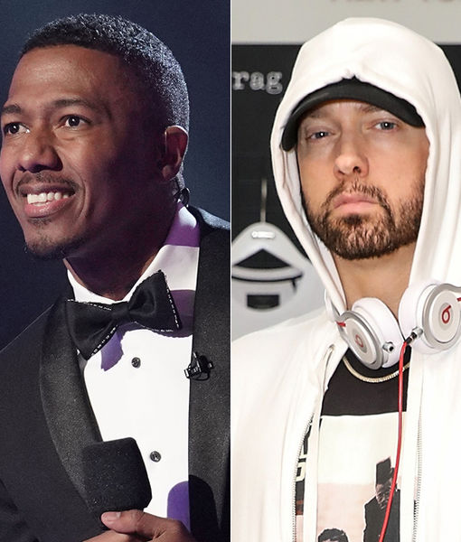 Nick Cannon Amps Up Feud with Eminem