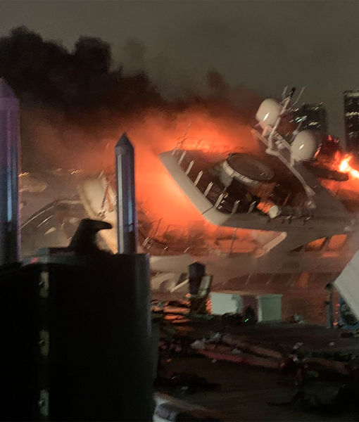 Marc Anthony's $7M Yacht Catches Fire, Capsizes