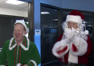 Billy Bush & Sean Spicer Spread Holiday Cheer as Santa & Spice-y the Elf
