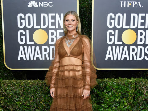 Gwyneth Paltrow's Jaw-Dropping Sheer Golden Globes Gown
