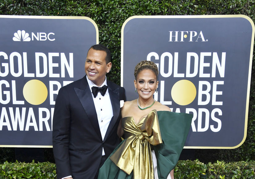 Jennifer Lopez Stuns in Bold Valentino Look at the Globes