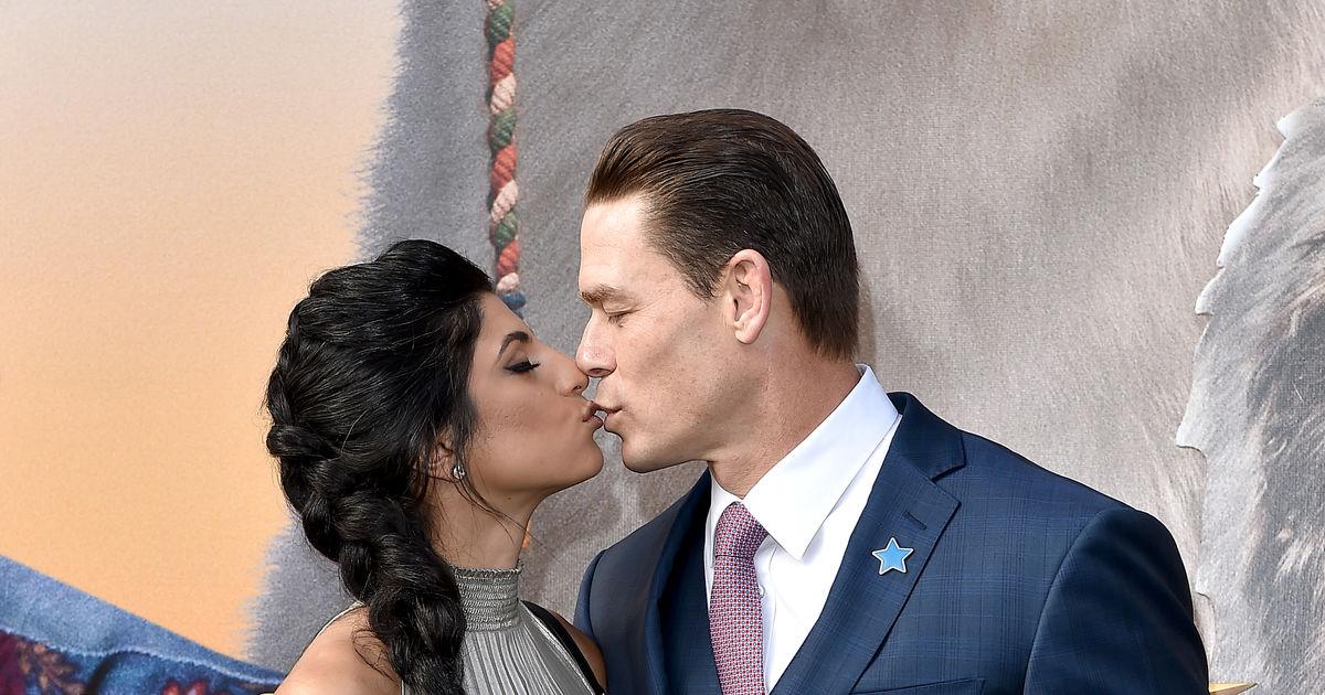Just Married John Cena Shay Shariatzadeh Tie The Knot Extratv Com
