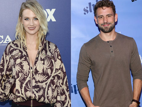 January Jones Confirms She Dated Nick Viall, Reveals His First DM!