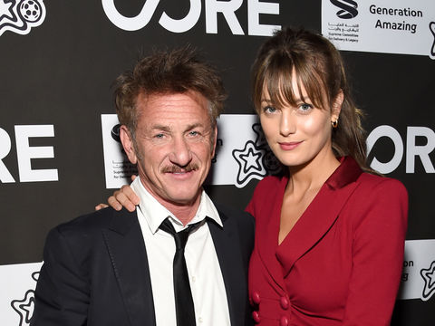Sean Penn Makes Rare Public Appearance with Much Younger GF Leila George