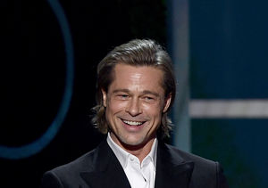 Brad Pitt Talks Tinder, Feet, and Past Marriages in Epic SAG Speech