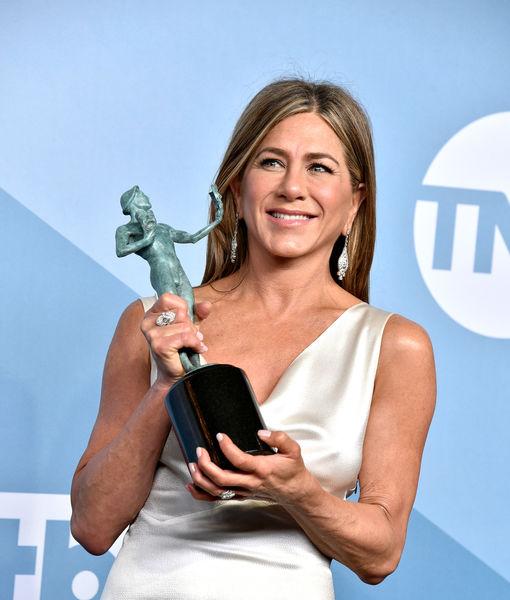 Jennifer Aniston Reacts to Brad Pitt Watching Her SAG Acceptance Speech Backstage