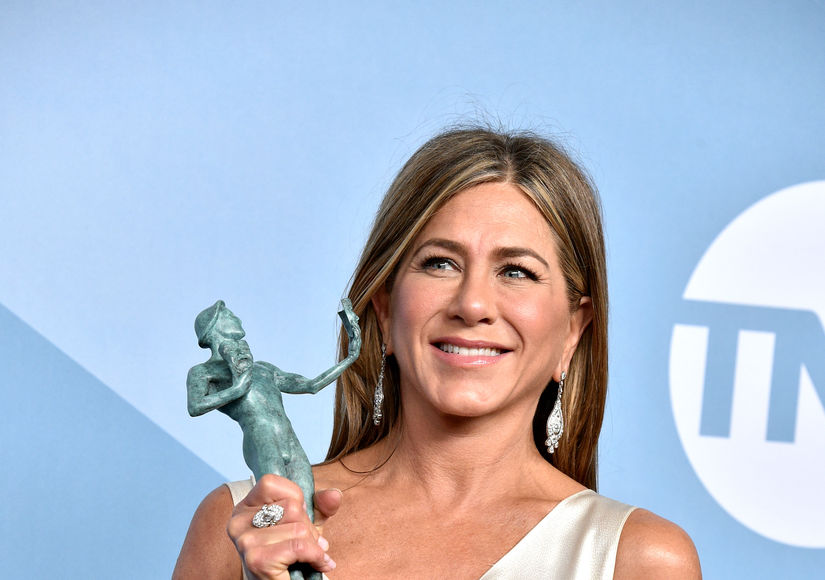 Jennifer Aniston Reacts to Brad Pitt Watching Her SAG Acceptance Speech…