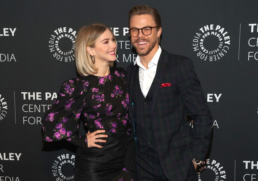 Derek Hough Reacts to Julianne's 'Crazy,' Exorcism-Like Energy Treatment
