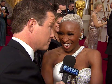 Billy's Fashion Moment with Cynthia Erivo at the Oscars