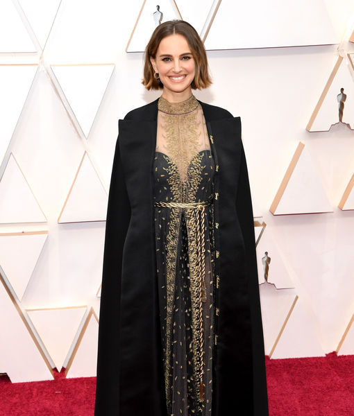 Natalie Portman Used Her Embroidered Oscars Look to Send a Bold Message